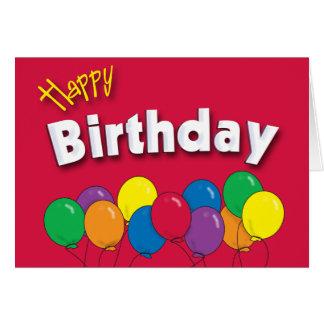 Geburtstag steigt Karte im Ballon auf