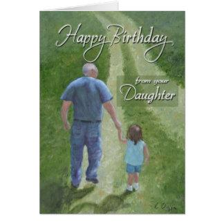 Geburtstag - von der Tochter Karte