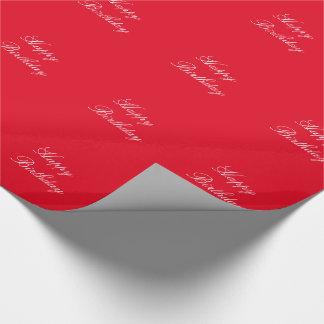 Geburtstag, weiß auf roter Geschenkverpackung Einpackpapier
