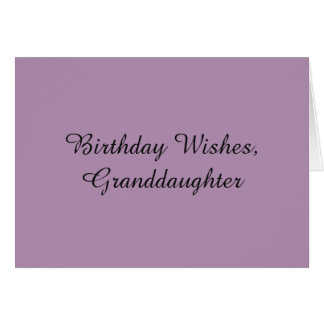 Geburtstag wünscht für eine Enkelin, auf Grußkarte