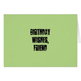 Geburtstag wünscht für einen Freund, auf blassem Grußkarte