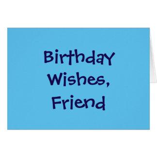 Geburtstag wünscht für einen Freund, dunkelblau Grußkarte