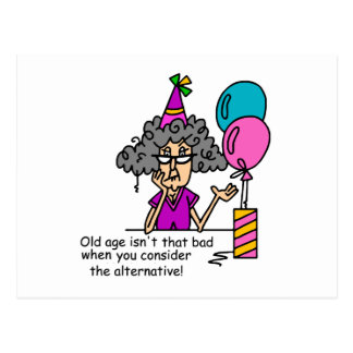 Geburtstags-AlternativSpaß Postkarte