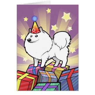 Geburtstags-amerikanischer Eskimohund/deutscher Grußkarte