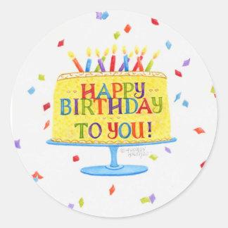 Geburtstags-Aufkleber-alles Gute zum Geburtstag Runder Aufkleber