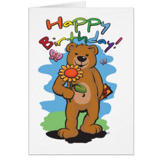 Geburtstags-Bär Grußkarte