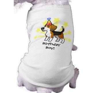 Geburtstags-Beagle Ärmelfreies Hunde-Shirt