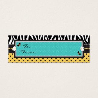 Geburtstags-Bienen-dünner Geschenk-Umbau Mini Visitenkarte