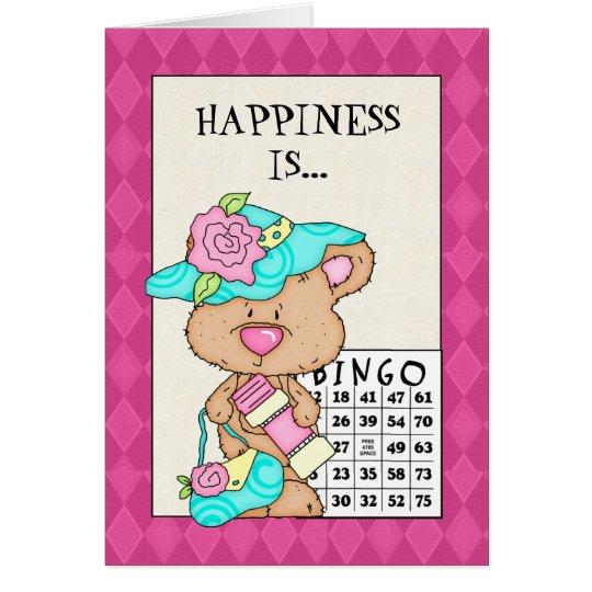 Geburtstags-Bingo-Grußkarte Karte