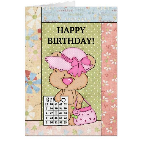 Geburtstags-Bingogrußkarte Grußkarte
