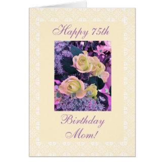 Geburtstags-Blumen Freesia der Mutter 75. Karte