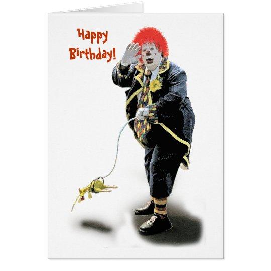 Geburtstags-Clown-Karte (weiß) Grußkarte