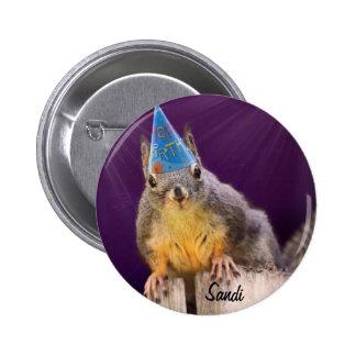 Geburtstags-Eichhörnchen-Foto Runder Button 5,1 Cm