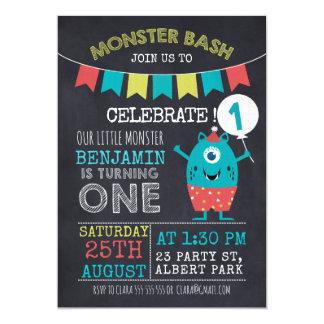 Geburtstags-Einladung des Tafel-Monster-1sr Karte