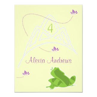 Geburtstags-Einladung - Prinzessin u. Frosch 10,8 X 14 Cm Einladungskarte