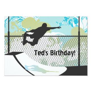 Geburtstags-Einladung - Skateboard 12,7 X 17,8 Cm Einladungskarte