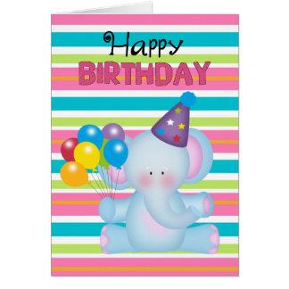 Geburtstags-Elefant-Tiergrußkarte Karte