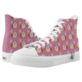 Geburtstags-Eulen-Schuhe Hoch-geschnittene Sneaker