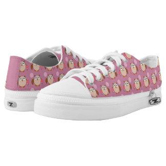 Geburtstags-Eulen-Schuhe Niedrig-geschnittene Sneaker