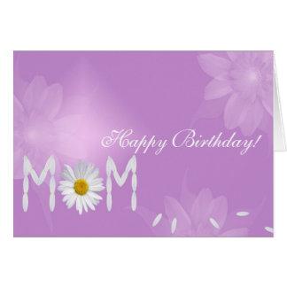 Geburtstags-Gänseblümchen für Mamma Grußkarte
