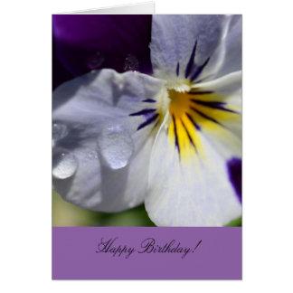 Geburtstags-Gruß-Karte mit Pansy-Blume Grußkarte