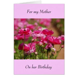 Geburtstags-Gruß-Karte - Mutter Grußkarte