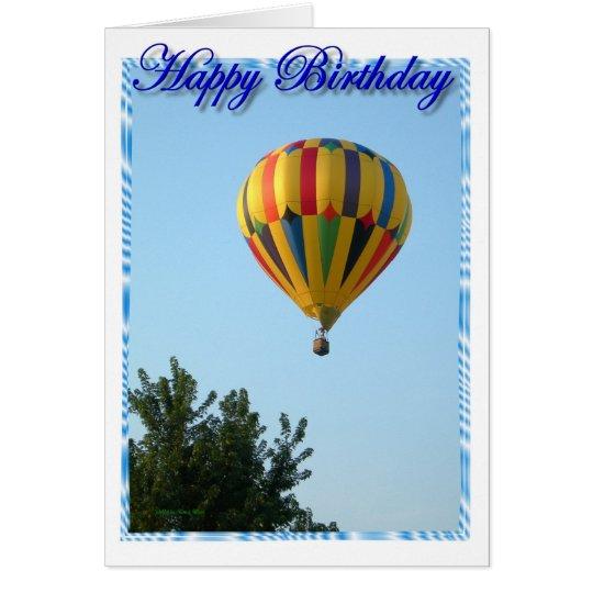 Geburtstags-Heißluft-Ballon Karte