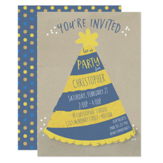 Birthday Hat Invitation