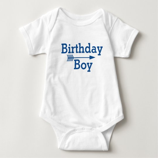 Geburtstags-Junge - Boho Pfeil - fertigen Sie Baby Strampler