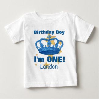 Geburtstags-Junge mit Krone bin ich EINE! Baby T-shirt
