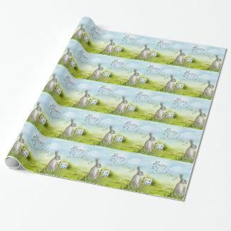 Geburtstags-Kaninchen Einpackpapier