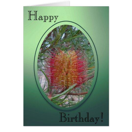 Geburtstags-Karte - Banksia-Blume Grußkarte