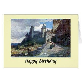 Geburtstags-Karte - Carcassonne. Aude, Frankreich Karte