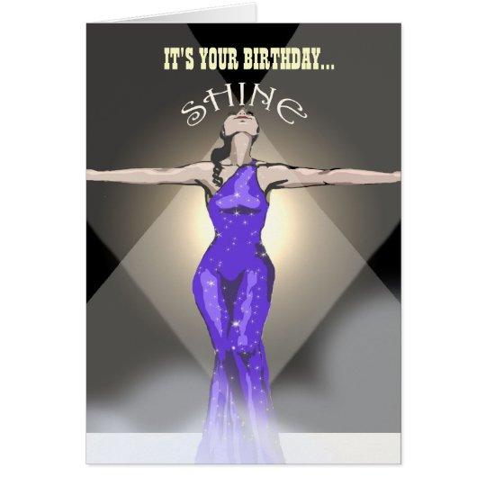 Geburtstags-Karte: Es ist Ihr Geburtstag… Glanz Grußkarte