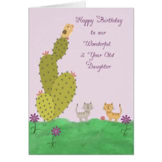 Geburtstags-Karte für die 2-jährig-Tochter Grußkarte