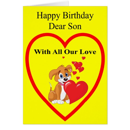 Geburtstags-Karte für Sohn Grußkarte
