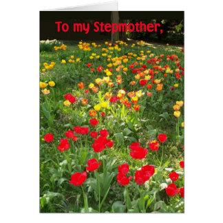 Geburtstags-Karte für Stiefmutter - 'Tulpen Karte