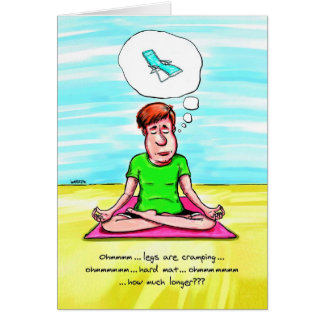 Geburtstags-Karte für Yoga-Liebhaber - Yoga-Stuhl Karte