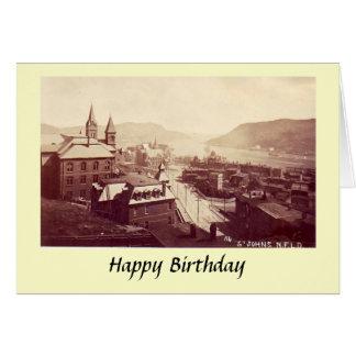 Geburtstags-Karte - Johannes, Neufundland Karte