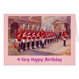 Geburtstags-Karte - London, Whitehall Karte