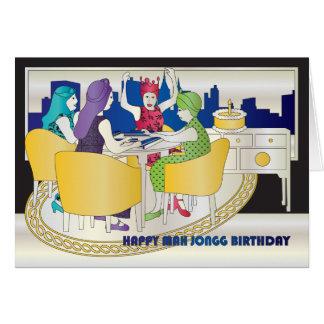 Geburtstags-Karte Milliamperestunde Jongg New York Karte
