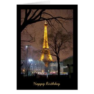 Geburtstags-Karte mit Eiffelturm Paris Karte