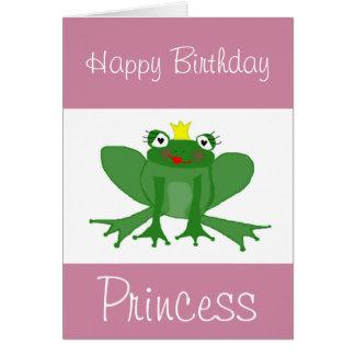 Geburtstags-Karte Prinzessin-Frog kundengerecht Karte