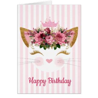 Geburtstags-Karte Prinzessin-Kitty Karte