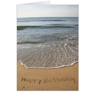 Geburtstags-Karte vom Jersey-Ufer Grußkarte