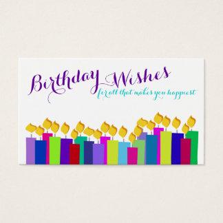 Geburtstags-Kerzen-Blumengeschenk-Einsatz-Karte Visitenkarte