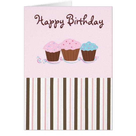 Geburtstags-kleine Kuchen Grußkarte