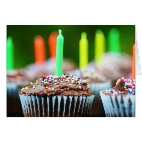 Geburtstags-kleine Kuchen Mitteilungskarte