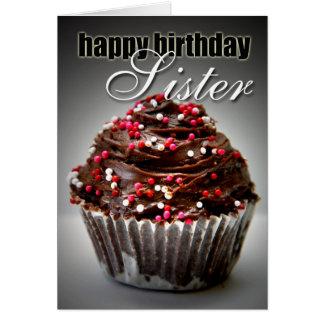 Geburtstags-kleiner Kuchen für meine Schwester Grußkarte