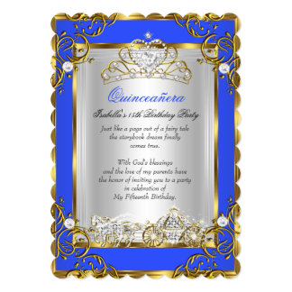 Geburtstags-Kobalt-Blau Prinzessin-Quinceanera 15.